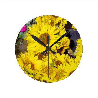 Flowers at the farmers market clocks