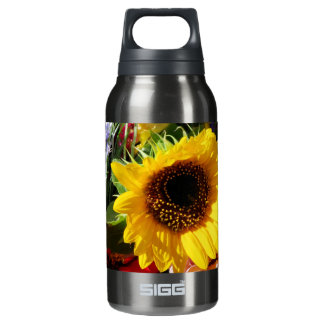 Flowers at the farmers market insulated water bottle
