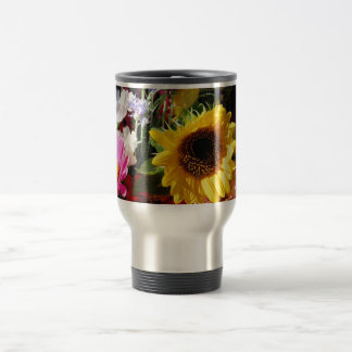 Flowers at the farmers market travel mug