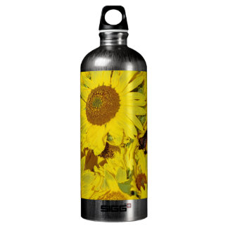 Flowers at the farmers market water bottle