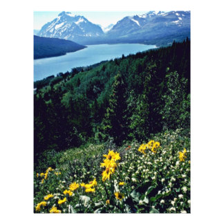 Flowers At Two Medicine Lake - Glacier National Pa Flyer