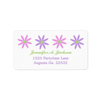 Flowers Avery Address Labels label