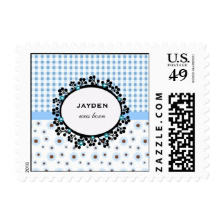 Flowers Baby Announcement Postage Stamp