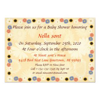 flowers baby shower invitation