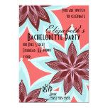 Flowers Bachelorette Party Invitation