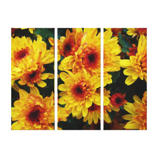 Flowers ,Background Canvas Gallery Wrapped Canvas