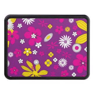 Flowers background hitch covers