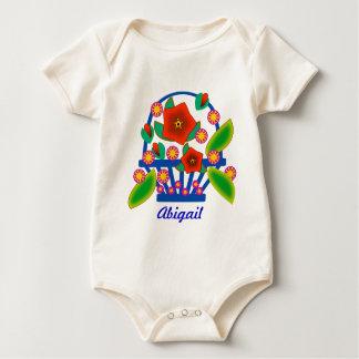 Flowers Basket Baby Bodysuit