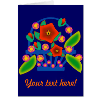 Flowers Basket Card