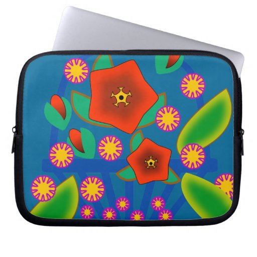Flowers Basket Computer Sleeve