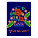 Flowers Basket Greeting Cards