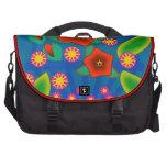 Flowers Basket Laptop Messenger Bag