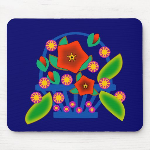 Flowers Basket Mouse Pad