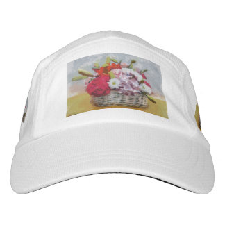 Flowers basket painting headsweats hat