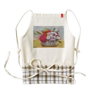 Flowers basket painting zazzle HEART apron