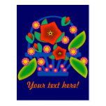 Flowers Basket Post Card