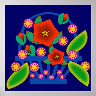 Flowers Basket Posters