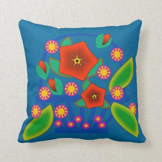 Flowers Basket Throw Pillow