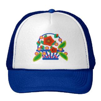 Flowers Basket Trucker Hat