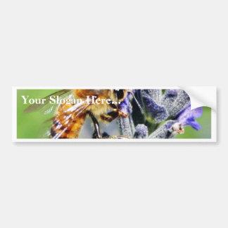 Flowers Bees Car Bumper Sticker