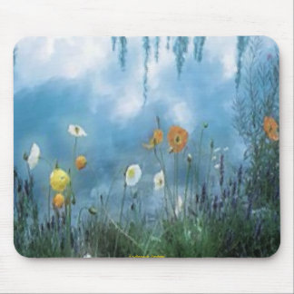 Flowers beside the pond Mousepad