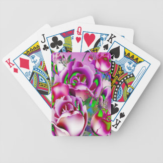 Flowers Bicycle Playing Cards