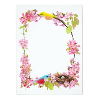 Flowers Birds Nest Card