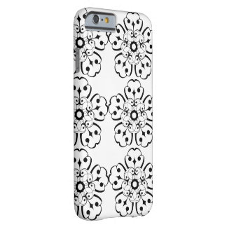 FLOWERS (BLACK AND WHITE PATTERN) iPhone 6 Case