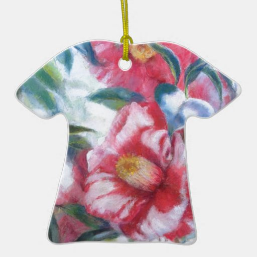 Flowers Blooming Double-Sided T-Shirt Ceramic Christmas Ornament