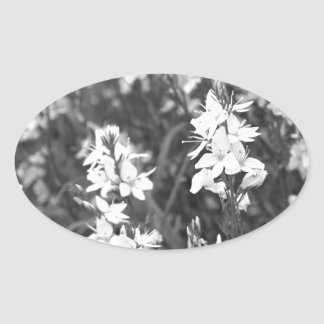 Flowers blossom oval stickers