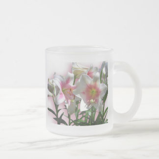 Flowers Blossoms Spring Garden Love Shower Party 10 Oz Frosted Glass Coffee Mug