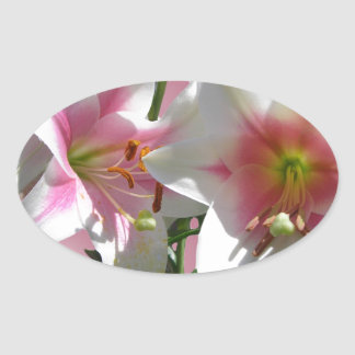 Flowers Blossoms Spring Garden Love Shower Party Oval Sticker
