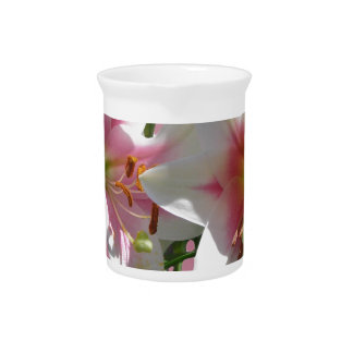 Flowers Blossoms Spring Garden Love Shower Party Beverage Pitchers