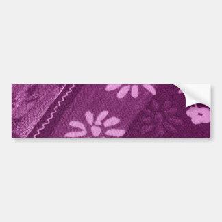 Flowers Blossoms Vines Purple Pink Shower Party Bumper Sticker