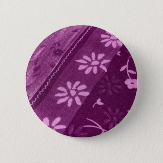 Flowers Blossoms Vines Purple Pink Shower Party Button