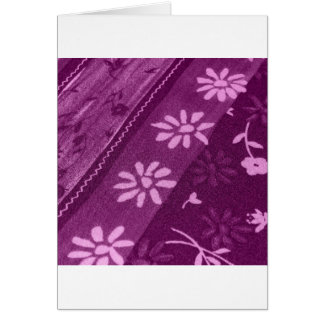 Flowers Blossoms Vines Purple Pink Shower Party Greeting Cards