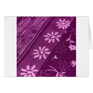 Flowers Blossoms Vines Purple Pink Shower Party Card