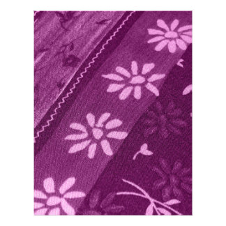 Flowers Blossoms Vines Purple Pink Shower Party Letterhead