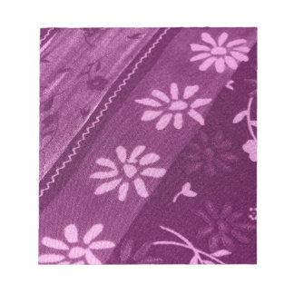 Flowers Blossoms Vines Purple Pink Shower Party Notepad