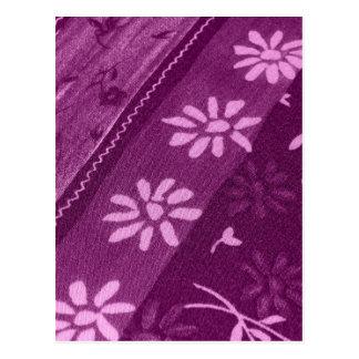 Flowers Blossoms Vines Purple Pink Shower Party Postcard