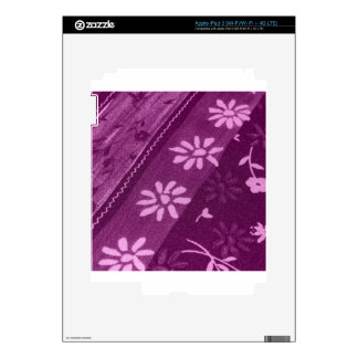 Flowers Blossoms Vines Purple Pink Shower Party Skin For iPad 3