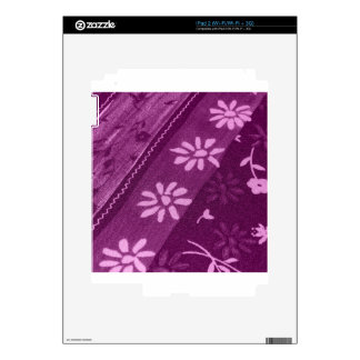 Flowers Blossoms Vines Purple Pink Shower Party Skins For iPad 2