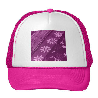 Flowers Blossoms Vines Purple Pink Shower Party Trucker Hat