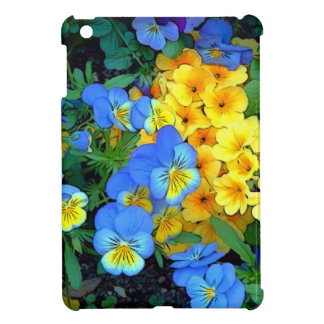 Flowers Blue and Yellow Cover For The iPad Mini