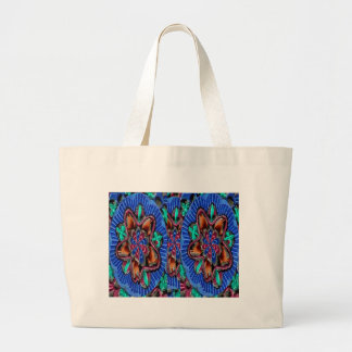 Flowers Blue from Temple Walls Jumbo Tote Bag