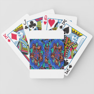 Flowers Blue from Temple Walls Bicycle Playing Cards