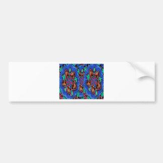 Flowers Blue from Temple Walls Bumper Sticker