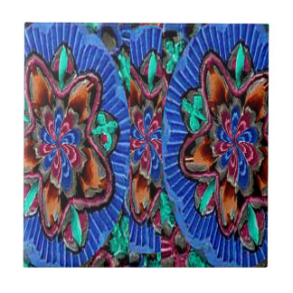 Flowers Blue from Temple Walls Ceramic Tile