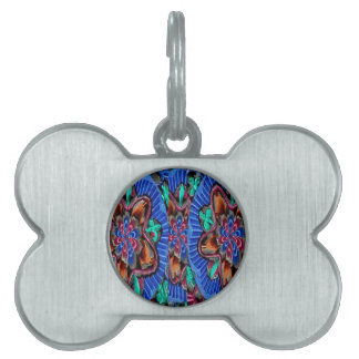 Flowers Blue from Temple Walls Pet Name Tag