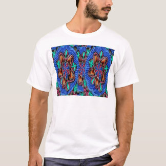Flowers Blue from Temple Walls T-Shirt